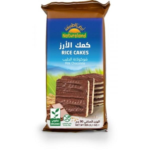 كعك الأرز الشوكولاته بالحليب (ارض الطبيعة)