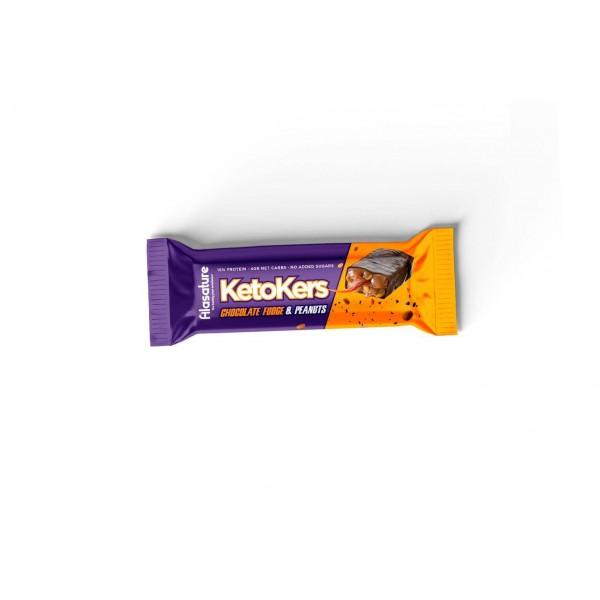 كيتو كرز بار فدج الشوكولاته والفول السوداني من Alasature
