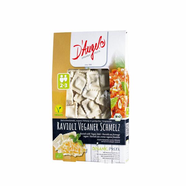 رافيولي بالجبن النباتي عضوي دانجيلو