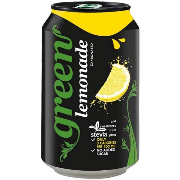 جرين ليمون مشروب غازي مُحلى بستيفيا (٦ علب)