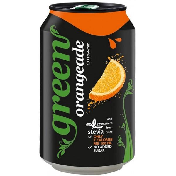 جرين برتقال مشروب غازي مُحلى بستيفيا (٦ علب)