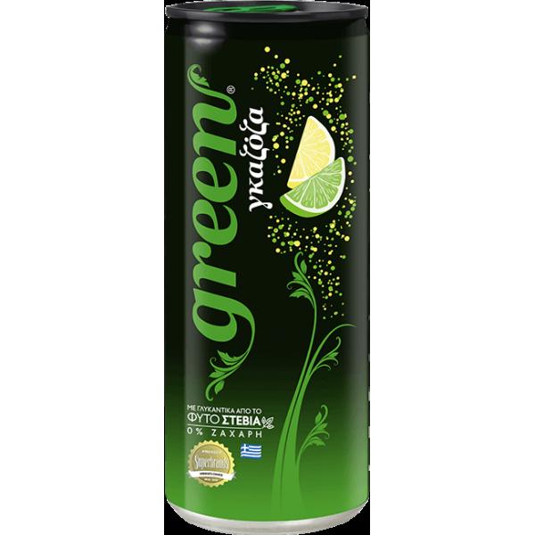 جرين ليمون لايم مشروب غازي مُحلى بستيفيا (٦ علب)