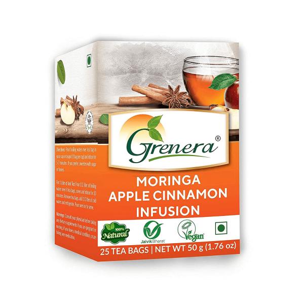 شاي المورينجا بالتفاح والقرفة