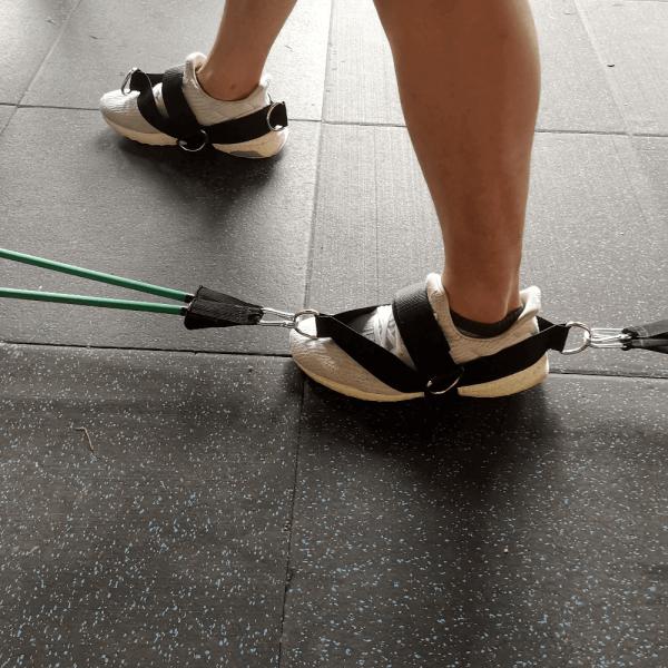 شريط تثبيت القدم لتمارين المقاومة