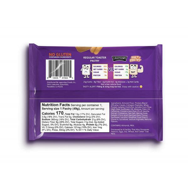 فطيرة عالية البروتين بالقرفة والسكر البني من Legendary Food