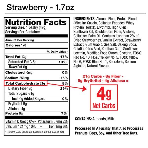 فطيرة عالية البروتين بالفراولة من Legendary Food