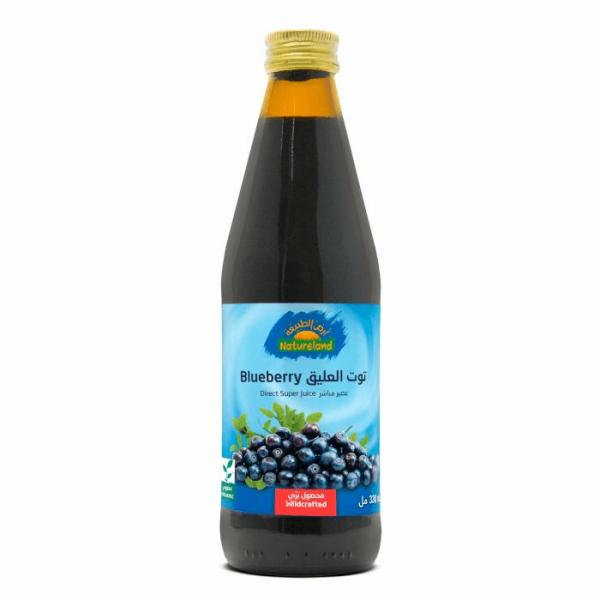 عصير التوت الأزرق أرض الطبيعة