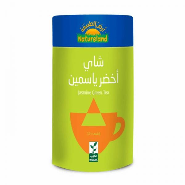 شاي أخضر ياسمين أرض الطبيعة