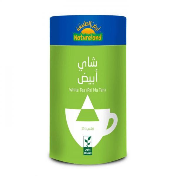 شاي أبيض أرض الطبيعة