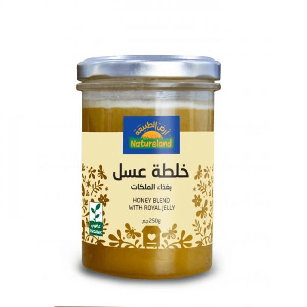 خلطة عسل بغذاء الملكات أرض الطبيعة
