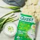 كويست بروتين شيبس بنكهة البصل والساور كريم