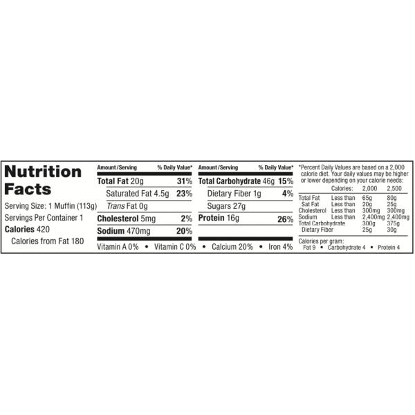 مافن بروتين بلوبيري- بيك سيتي