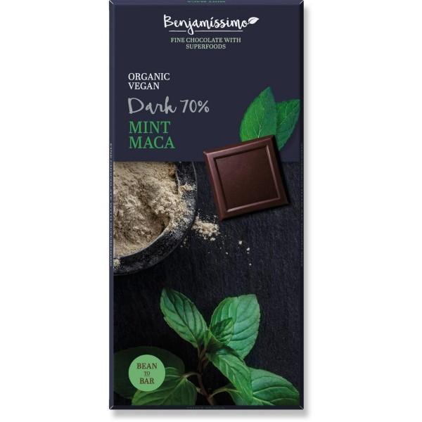 شوكولاته داكنة بالماكا والنعناع بينجاميسمو