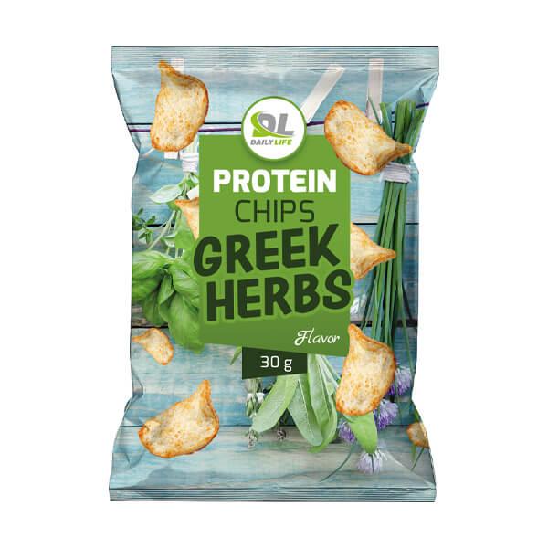 شيبس بالأعشاب اليونانية عالي البروتين- ديلي لايف