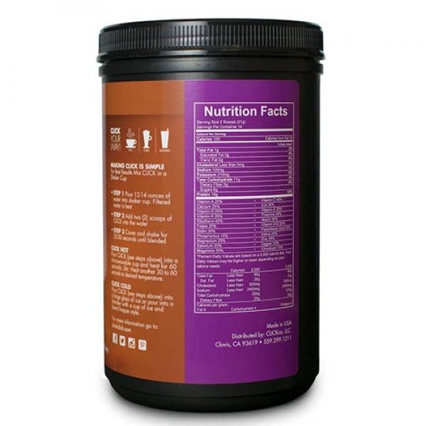قهوة عالية البروتين بنكهة الكراميل Click