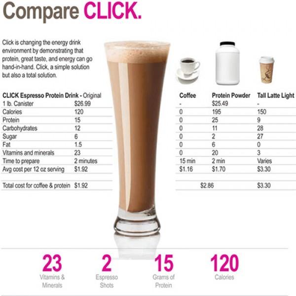 قهوة عالية البروتين من كليك - نكهة الموكا