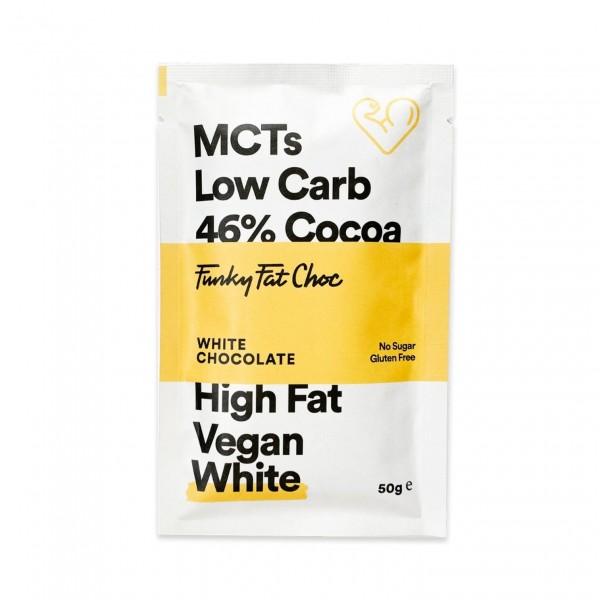 لوح وايت شوكلت 46% بالفانيلا - Funky Fat Food