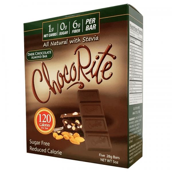شوكو رايت بار شوكولاته داكنة باللوز ( 5 حبات )