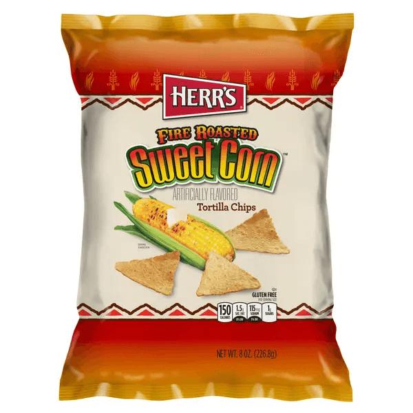 هيرز رقائق تورتيلا الذرة الحلوة المشوية
