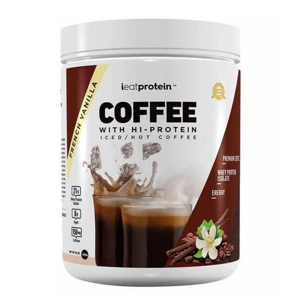 قهوة عالية البروتين من اي ايت بروتين - نكهة فانيلا