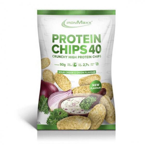 شيبس عالي البروتين بالسور كريم والبصل- ايرون ماكس