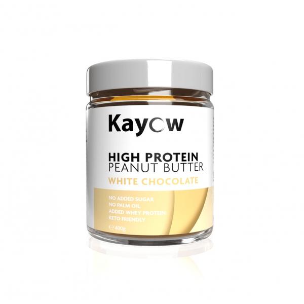 زبدة الفول السوداني عالي البروتين وايت شوكلت كايو