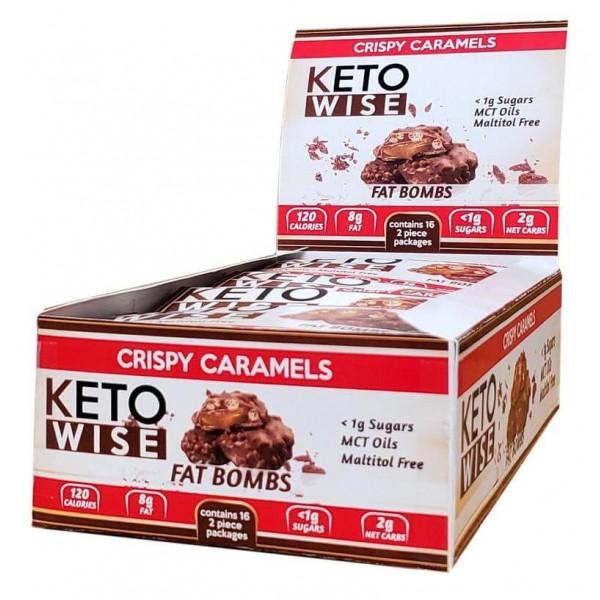 كيتو وايز أكواب الشوكولاته المقرمشة بالكراميل