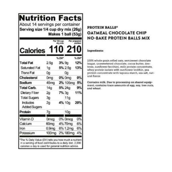 كودياك خليط كرات البروتين بالشوفان ورقائق الشوكولاته