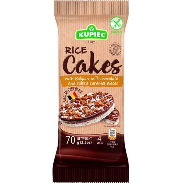 كعك الأرز KUPIEC شوكلت وقطع الكراميل المملح