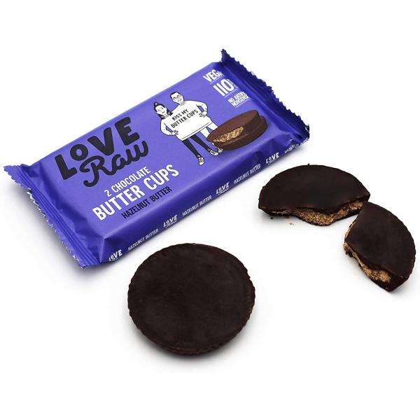 كوب شوكولاته داكنة بزبدة البندق لوف رو