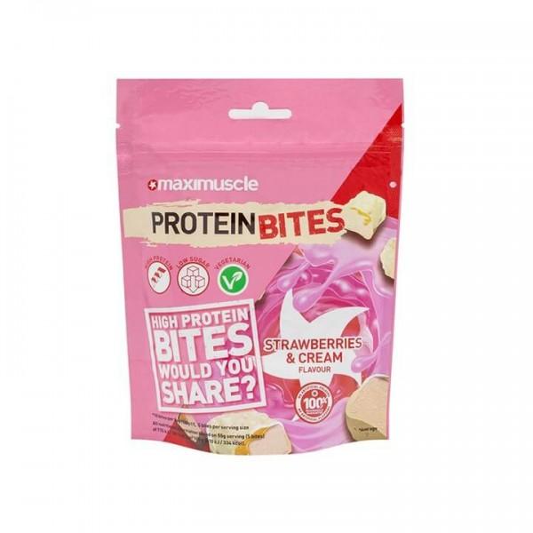 بروتين بايتس الكريمة والفراولة - Maximuscle