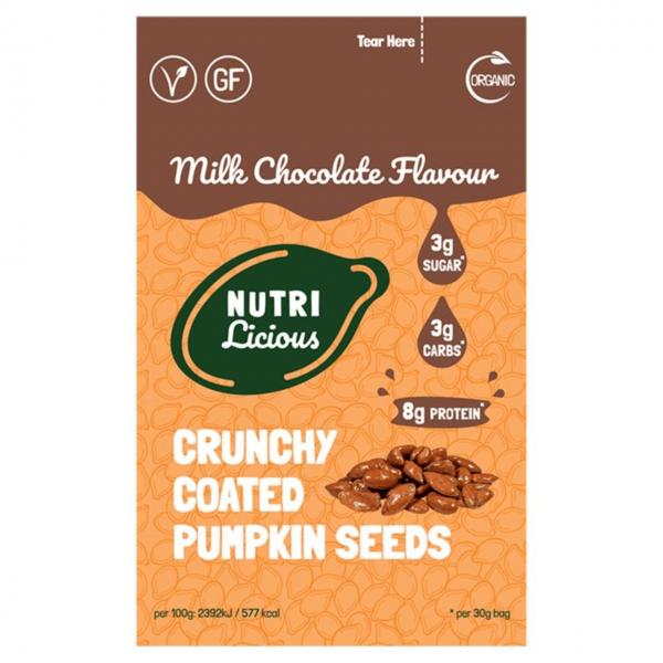 بذور القرع المقرمشة بشوكولاته الحليب- نيوتريكلس