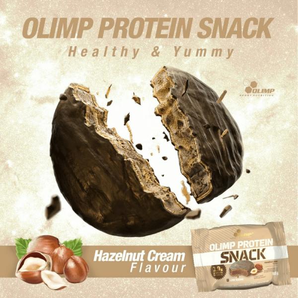 بروتين سناك اوليمب نكهة كريمة البندق