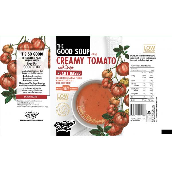 شوربة الطماطم مع الريحان- بلانتسي فود