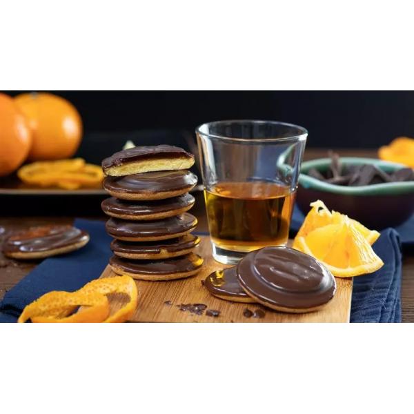 بسكويت بالشوكولاته والبرتقال شار