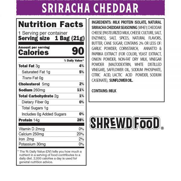 بفك سيراتشا تشيدر - Shrewd Food